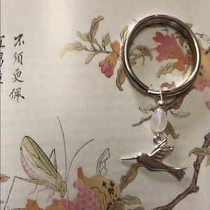 Casey Keith Design Accessories - Moonstone Hummingbird Keychain
